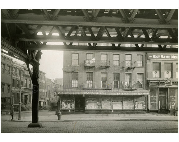 Bowery - east side - at 2nd Street 1915 Old Vintage Photos and Images
