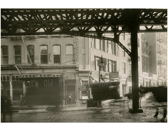 Bowery - east side - at Canal Street 1915 Old Vintage Photos and Images
