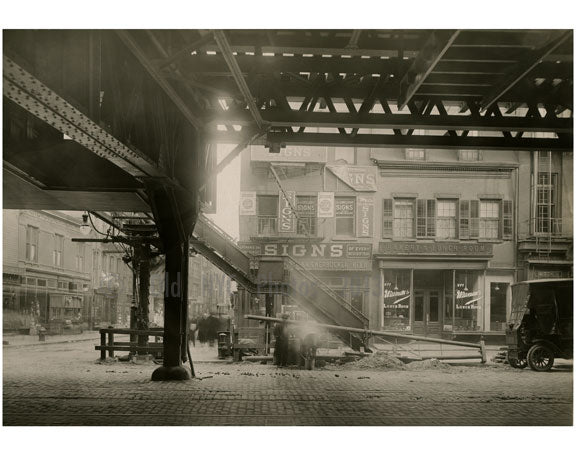 Bowery - east side - at Houston Street 1915 Old Vintage Photos and Images