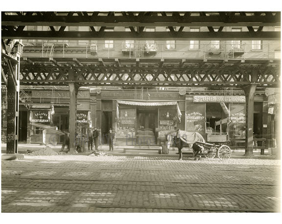 Bowery - east side - between 1st & 2nd Street 1915 Old Vintage Photos and Images