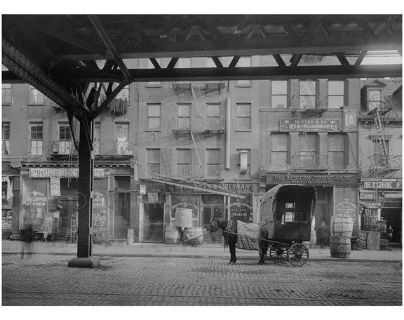Bowery - east side - between 1st & 2nd Streets 1915 Old Vintage Photos and Images
