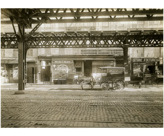 Bowery - east side - between 1st Street & Houston 1915 Old Vintage Photos and Images