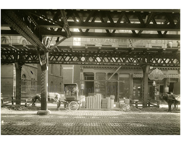 Bowery - east side - between 2nd & 3rd Street 1915 Old Vintage Photos and Images