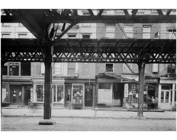 Bowery - East Side - between 3rd & 4th Streets 1915 Old Vintage Photos and Images