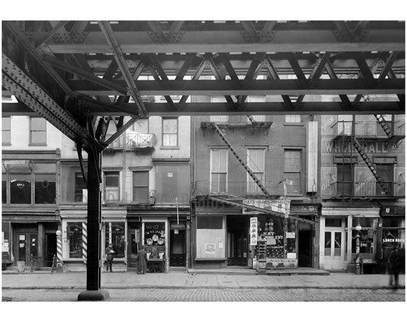 Bowery - East Side - between 3rd & 4th Streets Nov 1915 Old Vintage Photos and Images