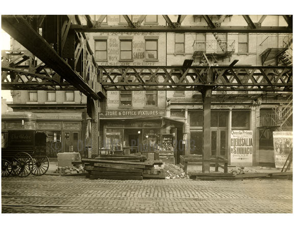 Bowery - east side - between Delancey & Broome Street 1915 Old Vintage Photos and Images