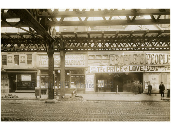 Bowery - east side - between Delancey & Rivington Street 1915 Old Vintage Photos and Images