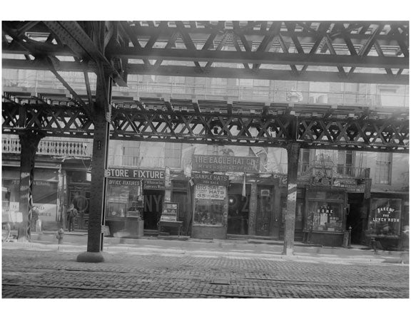 Bowery - east side - between E. 1st Street & Houston  1915 Old Vintage Photos and Images