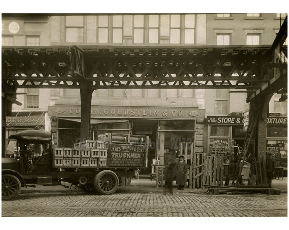 Bowery - East Side between Grand Street & Hester Street 1915 Old Vintage Photos and Images