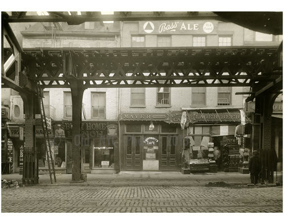 Bowery - east side - between Grand Street & Hester Street 1915 Old Vintage Photos and Images
