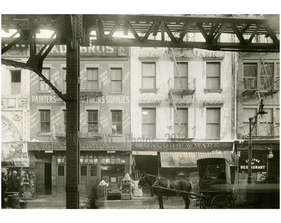 Bowery - east side - between Hester & Canal Street 1915 Old Vintage Photos and Images