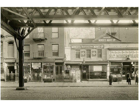 Bowery - east side - between Rivington & Delancey 1916 Old Vintage Photos and Images