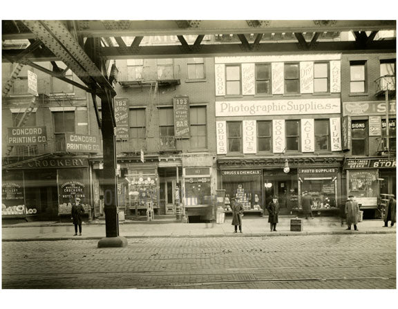 Bowery - east side - between Rivington & Delancey Street January 1916 Old Vintage Photos and Images