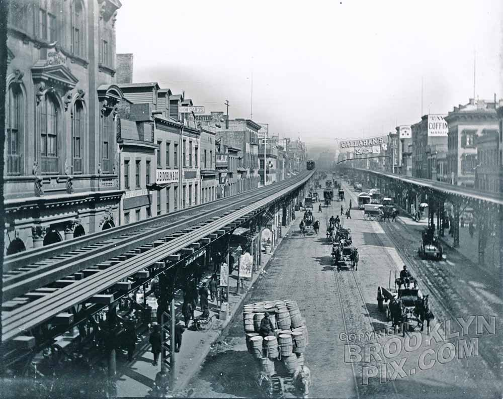 Bowery, north from Grand Street, 1890 Old Vintage Photos and Images