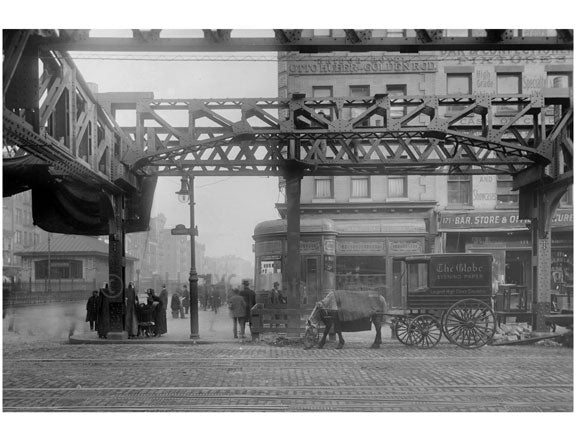 Bowery -view east at Delancey Street  1915 Old Vintage Photos and Images