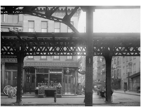 Bowery - view east at  Hester Street  1915 Old Vintage Photos and Images
