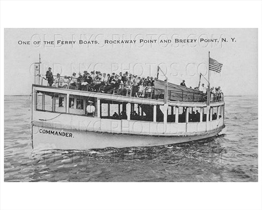 Breezy Point Ferry Commander Boat Rockaway Point 1935 Old Vintage Photos and Images