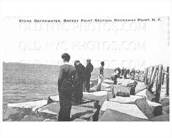 Breezy Point Rockaway Point Stone Breakwater 1930 Old Vintage Photos and Images
