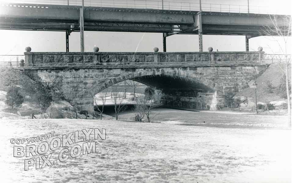Bridge at 3rd Avenue and what is now 66th Street, Lief Ericson Park and Square, 1915