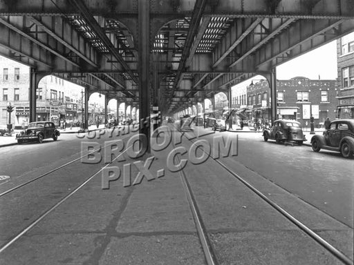 Brighton Beach Avenue west to Brighton 3rd Street, 1945 Old Vintage Photos and Images