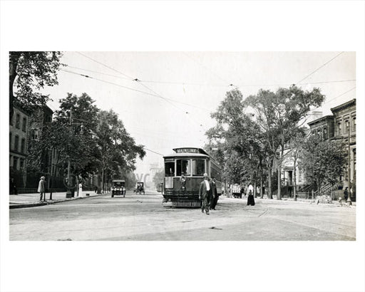 Broad Street & Clinton Avenue Newark NJ 1915 Old Vintage Photos and Images