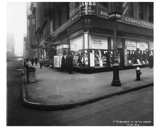 Broadway & 26th Street - Flatiron District  NY 1915 A Old Vintage Photos and Images