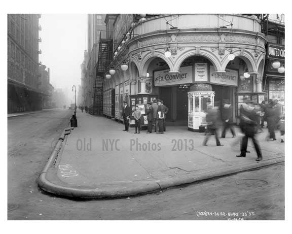 Broadway & 35th Street - Midtown Manhattan - NY 1914 C Old Vintage Photos and Images