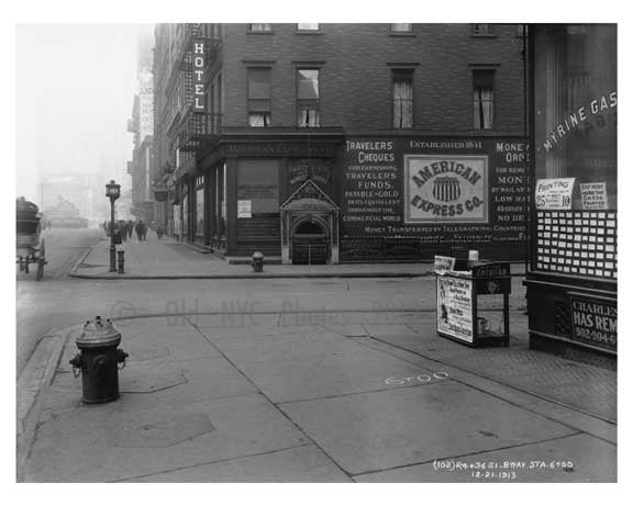 Broadway & 36th Street -  Midtown Manhattan  NY 1913 A Old Vintage Photos and Images