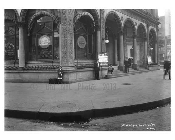 Broadway & 36th Street - Midtown Manhattan - NY 1914 A Old Vintage Photos and Images