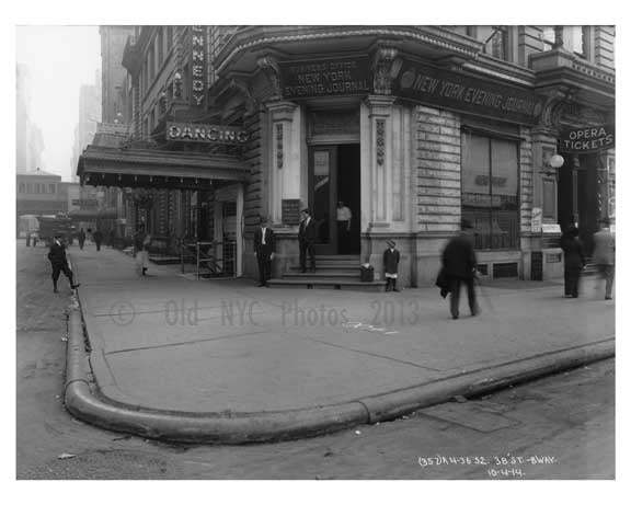 Broadway  & 38th  Street - Midtown Manhattan - NY 1914 F Old Vintage Photos and Images