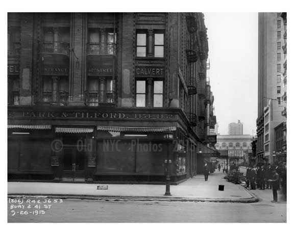 Broadway & 41st Street - Midtown Manhattan - 1915 Old Vintage Photos and Images