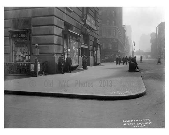 Broadway  & 42nd Street - Midtown Manhattan - NY 1914 A Old Vintage Photos and Images