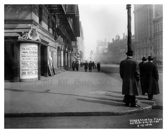 Broadway  & 42nd Street - Midtown Manhattan - NY 1914 D Old Vintage Photos and Images