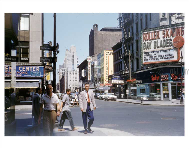 Broadway & 52nd Street - Midtown Manhattan Old Vintage Photos and Images