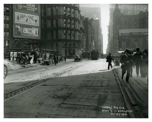 Broadway & Barclay Street - Downtown Manhattan - NYC 1914 A Old Vintage Photos and Images