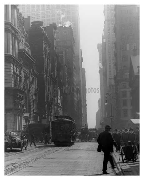 Broadway & Barclay Street - Downtown Manhattan - NYC 1914 B Old Vintage Photos and Images