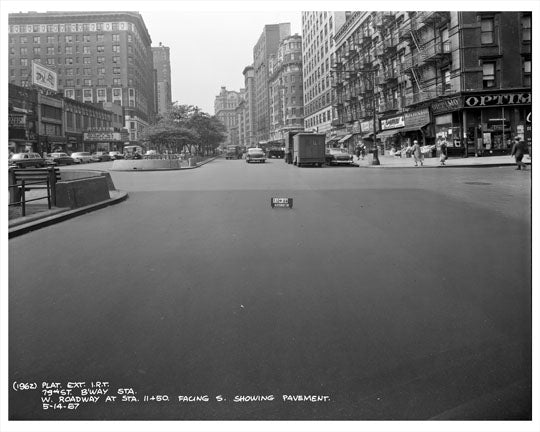 Broadway between 78th & 79th Streets 1957  - Upper West Side - Manhattan - New York, NY Old Vintage Photos and Images