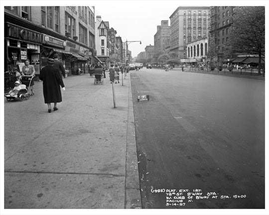 Broadway between 79th & 80th Streets 1957  - Upper West Side - Manhattan - New York, NY Old Vintage Photos and Images