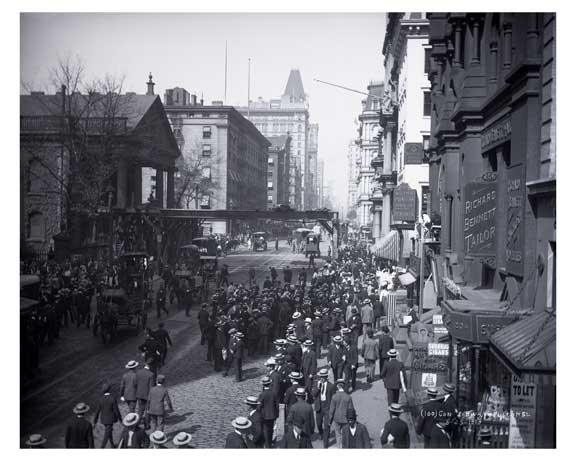 Broadway & Fulton St. Financial District  1903 New York, NY A Old Vintage Photos and Images