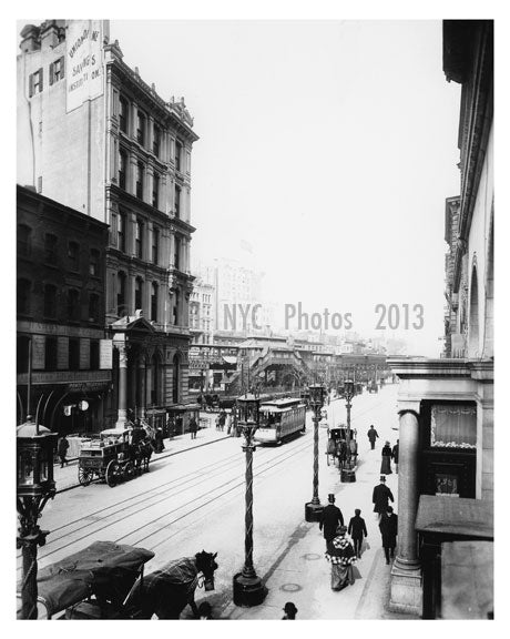 Broadway looking North from 31st Street 1892 Garment District Manhattan Old Vintage Photos and Images