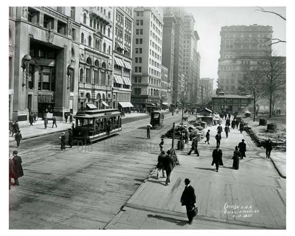 Broadway & Mail Street 1912 - Financial District Downtown Manhattan NYC A Old Vintage Photos and Images