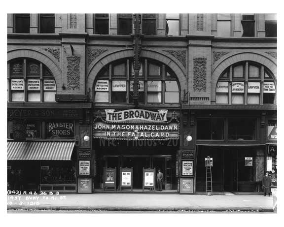 Broadway - Midtown Manhattan - 1915 Old Vintage Photos and Images