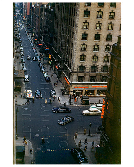 Broadway near Times Square 1954 Old Vintage Photos and Images