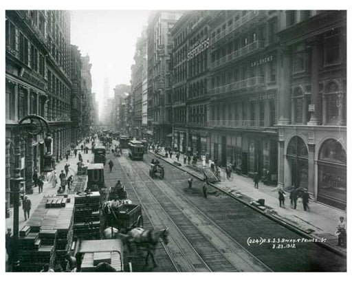 Broadway & Prince Street  1912 - Soho Downtown Manhattan NYC E Old Vintage Photos and Images