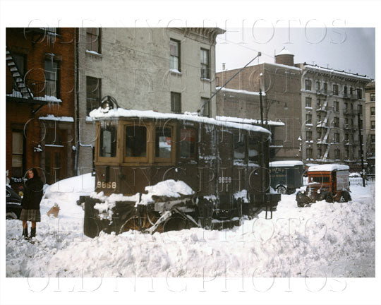 Brooklyn Trolley with snow Old Vintage Photos and Images