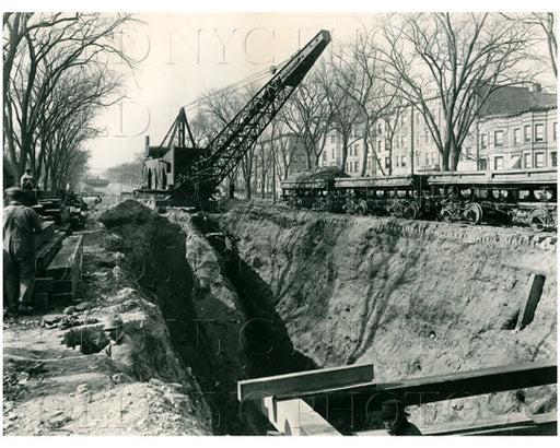 Crown Heights road contruction Old Vintage Photos and Images