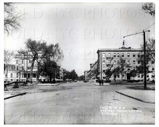 Eastern Parkway showing Kingston Ave 1915 Old Vintage Photos and Images