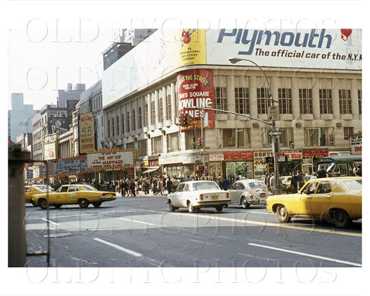 West 42nd Street at 7th Ave Times Square, NYC 1970 Old Vintage Photos and Images