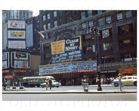 Paramount Theater Times Square 1952 Old Vintage Photos and Images