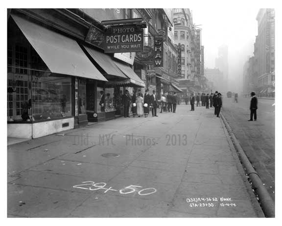 Broadway shops - Midtown Manhattan - NY 1914 Old Vintage Photos and Images